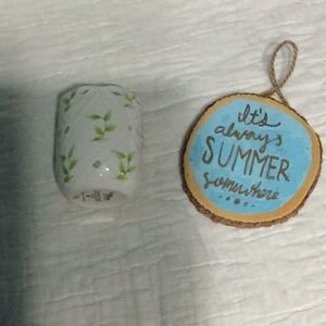 Summer plaque and candle